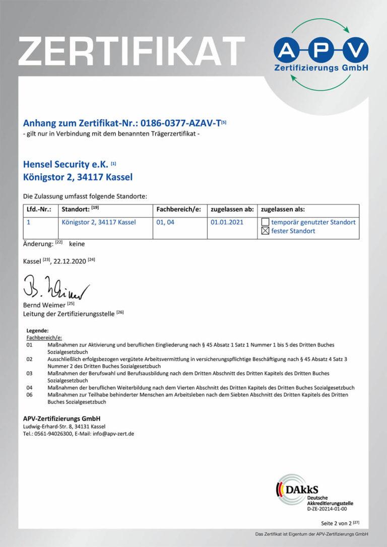 Zertifikat AZAV 0186-0377-AZAV-T-1-Rueckseite