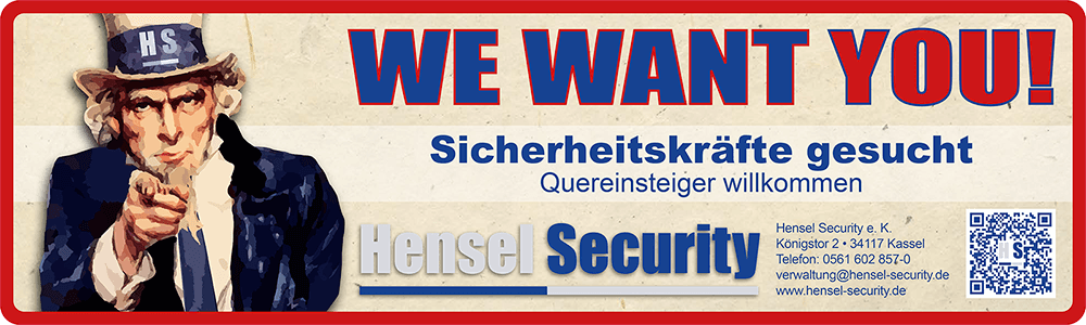 Werbebanner Sicherheitskräfte gesucht 2